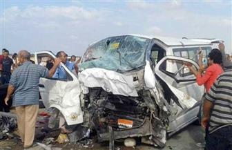 إصابة 14 شخصا في انقلاب ميكروباص على طريق الأقصر بغداد في الوادي الجديد