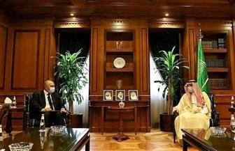 وزير الدولة للشئون الخارجية السعودي يستقبل السفير المصري بالرياض