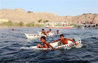 |حديث الصور| مهرجان حراس النيل.. سباق «الجريدي» في قناة «سنوسرت»