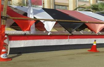 أعلام مصر تزين المقار الانتخابية بدائرة السلام أول| صور