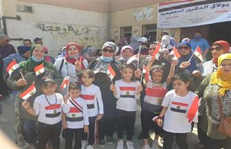 أعلام مصر تزين لجان انتخابات مجلس الشيوخ في بولاق الدكرور| صور