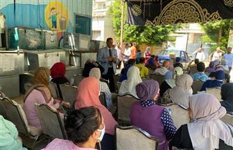 الشباب والنساء يزينون لجان الانتخاب بالبساتين | صور