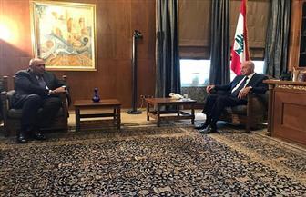سامح شكري يبحث مع نبيه بري سبل دعم لبنان الشقيق بكافة الأوجه لتجاوز هذا الظرف الدقيق | صور
