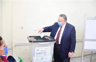 وكيل مجلس النواب يدلي بصوته الانتخابي بمدرسة الخلفاء الراشدين بمصر الجديدة |صور
