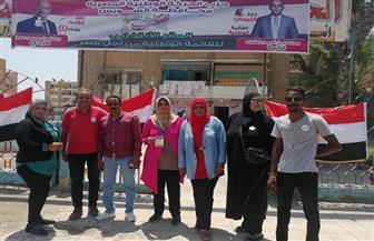 الحركة الوطنية بالسويس يشيد بوعي المواطنين وتوافده بصورة مكثفة على اللجان الانتخابية | صور
