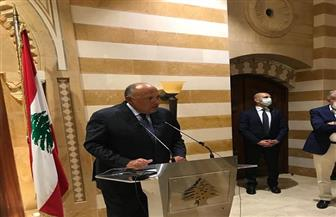 سامح شكري: لبنان بحاجة لتوجه جديد يعيد الثقة إليها ويؤهل لمرحلة جديدة على أسس مختلفة قوامها إعلاء مصلحة الشعب