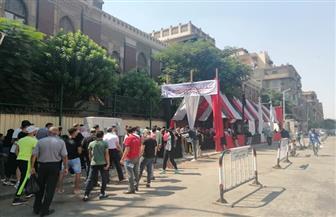 توافد الناخبين على لجان مدرسة خليل أغا بباب الشعرية | صور