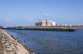 ميناء دمياط ينقل شحنة من القمح إلى صوامع إمبابة عبر  النيل| صور