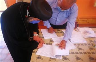 أسقف السويس يدلي بصوته في انتخابات مجلس الشيوخ | صور