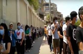 طوابير الشباب أمام لجنة انتخابات الشيوخ بمدينة نصر في ثاني أيام انتخابات الشيوخ | فيديو