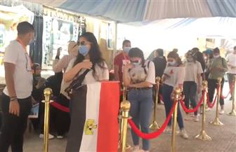فتيات مصر الجديدة يقبلن بكثافة على انتخابات الشيوخ| فيديو