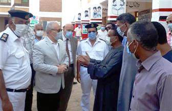 محافظ الأقصر يتفقد المقار الانتخابية بالقرنة وهتافات تحيا مصر أمام اللجان | صور