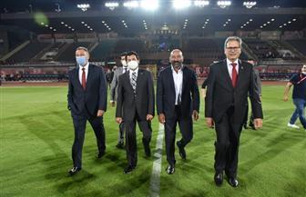 وزير الشباب والرياضة والخطيب يشهدان حفل افتتاح إستاد الأهلي | صور