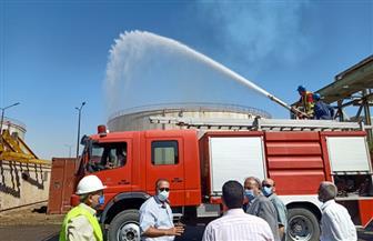لجنة اشتراطات الحماية المدنية والسلامة بأسيوط تتفقد تجربة إطفاء حريق بمحطة كهرباء الوليدية| صور