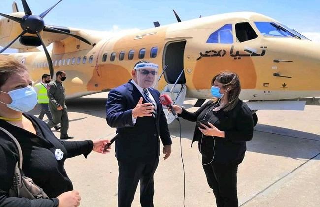 سفير مصر فى بيروت  طائرات مساعدات مصرية تضم مواد غذائية وطبية وصلت للبنان   صور