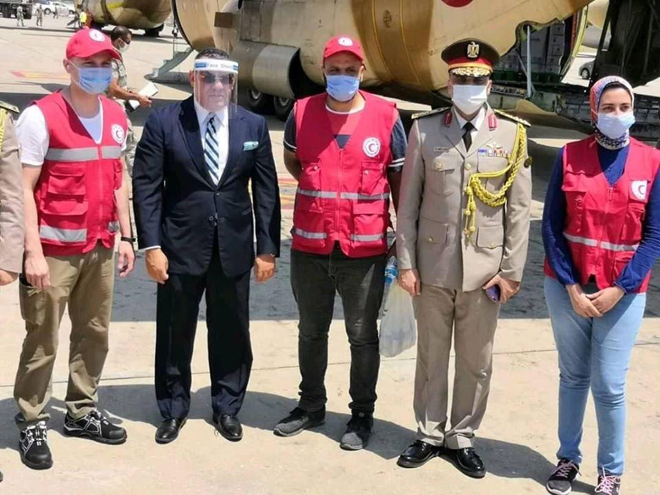 وصول المرحلة الثالثة من جسر المساعدات المصري الى بيروت