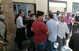 خروج جثمان الفنانة شويكار من مستشفى الصفا لتشييعه إلى مثواه الأخير|صور