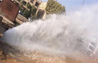 انفجار الماسورة الرئيسية للصرف وراء قطع المياه بمدينة طنطا