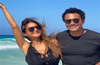 نيلى كريم وآسر ياسين يشوقان الجمهور للجزء الثاني من ١٠٠ وش  | صور