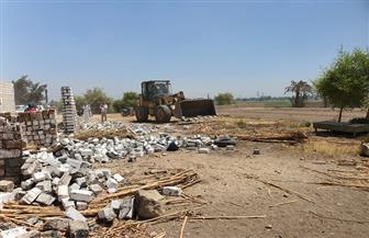 إزالة 9 حالات تعد على أملاك  الدولة والأراضي الزراعية بمركز سوهاج | صور