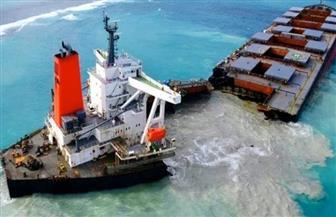 كارثة بيئية تهدد جزيرة مورشيوس بعد انشطار سفينة النفط اليابانية الغارقة