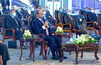 الرئيس السيسي: استهدفنا تطوير شبكة الطرق .. ونسعى لتقديم خدمة متميزة للمواطنين