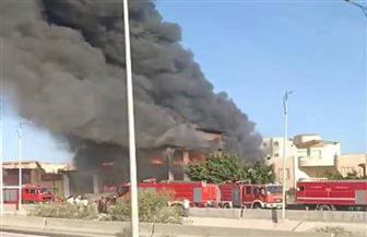 حريق يلتهم شركة بالساحل الشمالي.. والحماية المدنية تدفع بـ 10 سيارات إطفاء | صور
