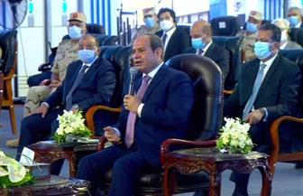 الرئيس السيسي يقوم بجولة تفقدية خلال افتتاح المرحلة الرابعة من الخط الثالث لمترو الأنفاق