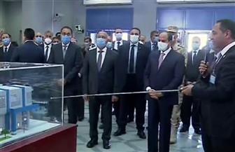 الرئيس السيسي يستمع إلى شرح تفصيلي خلال افتتاح المرحلة الرابعة من الخط الثالث لمترو الأنفاق