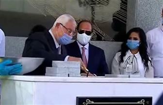 الرئيس السيسي يشهد وضع حجر الأساس لمحطة عدلي منصور التبادلية