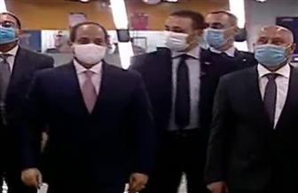 الرئيس السيسي يختتم جولته التفقدية بالمرحلة الرابعة من الخط الثالث لمترو الأنفاق