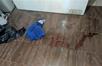 """على طريقة فيلم نقطة رجوع.. أول صور من موقع جريمة قتل ربة منزل وحفظ جثتها في """"ثلاجة"""""""