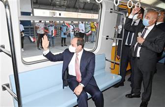 المتحدث الرئاسي ينشر صور افتتاح الرئيس السيسي للمرحلة الرابعة من الخط الثالث للمترو