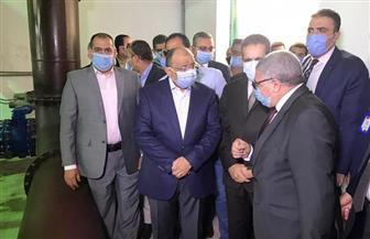 وزير التنمية المحلية يتفقد المرحلة الأولى من أعمال توسعات محطة مياه المرشحة الجديدة بطنطا   صور