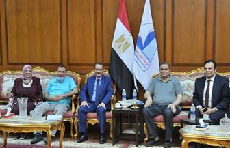 رئيس جامعة كفر الشيخ يستقبل وزير التنمية الإدارية الأسبق | صور