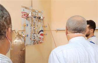«صحة الغربية»: توصيل شبكة غازات طبية جديدة بمستشفي حميات بسيون   صور