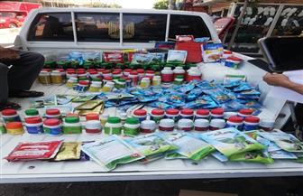 ضبط 350 عبوة مبيدات زراعية محظور تداولها مطروحة للبيع فى قطور بالغربية | صور