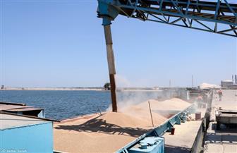 نقل 1600 طن قمح من ميناء دمياط إلى صومعة إمبابة | صور