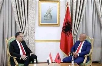 الرئيس الألباني يستقبل السفير المصري | صور
