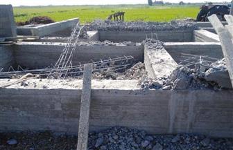إزالة مبنيين مخالفين على أراضى زراعية ببورسعيد | صور