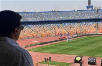 وزير الرياضة يتفقد ستاد القاهرة قبيل المباراة وينهي أزمة لاعب الأهلي |صور