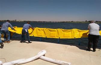 """""""مياه أسيوط"""" تنفذ أول تجربة عملية للحواجز المطاطية لمأمونية المياه بمحطة نزلة عبداللاه"""