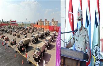 رئيس الأركان يشهد المرحلة الرئيسية لمشروع مراكز القيادة الخارجي «إعصار 60» بالجيش الثالث الميداني