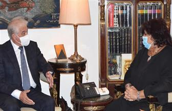 وزيرة الثقافة تبحث مع محافظ جنوب سيناء خطة تطوير قصر ثقافة الطور | صور