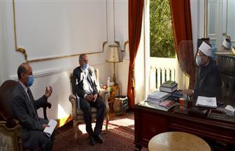 وزير الأوقاف يستقبل رئيس الجامعة المصرية للثقافة الإسلامية بكازاخستان   صور