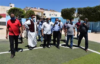 محافظ مطروح يتفقد أعمال تطوير منطقة السواني ومركز شباب مطروح  صور