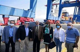 وصول أولى سفن الجسر البحري المصري لبيروت المخصص لامداد لبنان بمواد البناء |صور