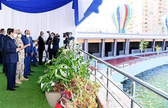 الرئيس السيسي يشهد افتتاح محطة مياه ومعالجة الصرف الصحي بمدينة برج العرب