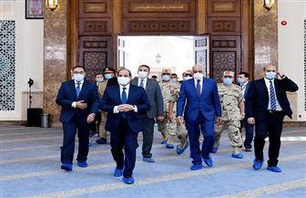 صفحة المتحدث الرئاسي تنشر صور افتتاح الرئيس السيسي لمجموعة من المشروعات القومية بالإسكندرية|صور