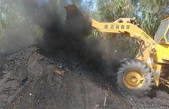 إزالة 3 مكامير فحم على مساحة 450 مترا بقرية البساتين| صور